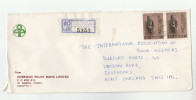 Registered SRI LANKA OVERSEAS TRUST BANK  COVER To GB  Stamps  Buddhism Banking Finance - Sri Lanka (Ceylon) (1948-...)