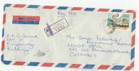 REGISTERED Air Mail KOLLUPITTYA  SRI LANKA COVER Transport BUS Stamps To UNDP UNITED NATIONS Un - Sri Lanka (Ceylon) (1948-...)