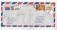 REGISTERED Chunnakam SRI LANKA COVER Stamps  GODAPITYA, DEER To GB - Sri Lanka (Ceylon) (1948-...)