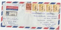 REGISTERED Malekem  SRI LANKA COVER Stamps CHRISTMAS  Multi DEER To GB Religion - Sri Lanka (Ceylon) (1948-...)