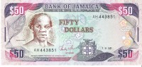 Jamaica - Pick 73a - 50 Dollars 1988 Unc - Giamaica