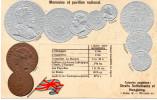 Carte En Relief Gaufrée - Représentation  De Monnaies - Bon état, Voir Scans . - Coins (pictures)