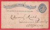 Canada  --  Entier Postal ---   Départ Ottawa  --1891 - 1860-1899 Règne De Victoria