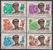 République Du Congo 1968 - Général Mobutu, Timbres De 1966 Surchargés Nouvelle Valeur - 6 Val Neufs // Mnh - Ungebraucht