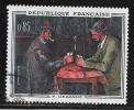 N° 1321  FRANCE  - OBLITERE  -   TABLEAU LES JOUEURS DE CARTE P. SEZANNE  -  1961 - Usados
