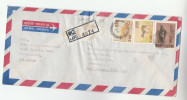 REGISTERED Div Marad  SRI LANKA COVER  Stamps CIVET DEER BUDDHISM Air Mail - Sri Lanka (Ceylon) (1948-...)
