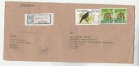 Registered SRI LANKA COVER To UNDP UNITED NATIONS  Bird Stamps Un Bird - Sri Lanka (Ceylon) (1948-...)