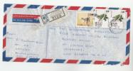 REGISTERED  Boralesgamuwa SRi LANKA COVER  Stamps  BIRD Birds DEER Air Mail GB - Sri Lanka (Ceylon) (1948-...)