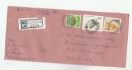 REGISTRED Mandur SRi LANKA COVER Muli Stamps BIRD Birds CIVET - Sri Lanka (Ceylon) (1948-...)