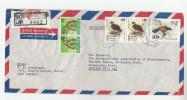 REGISTERED Air Mail SENKADAGALA SRi LANKA COVER Stamps BIRD Birds  To GB - Sri Lanka (Ceylon) (1948-...)