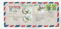 REGISTERED Air Mail  KOLLUPITIYA SRi LANKA COVER Multi Stamps  BIRD Birds To GB - Sri Lanka (Ceylon) (1948-...)