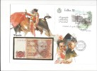 13171 -   Lettre Billet 200 Pesetas 16.09.1980 Cover Exfilna 18.10.1985 - Spagna