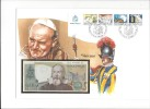 13172 -   Lettre Billet 2000 Lire 24.10.1983 Cover Vaticano 25.12.1985 - 2000 Lire