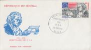 Enveloppe  1er   Jour    SENEGAL    Bicentenaire  Des   U.S.A    1976 - Indépendance USA