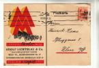AK Wien, Firmenkarte Mit Werbung Für Die Leipziger Messe, 1931 - Wien