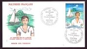 LETTRE FDC POLYNÉSIE FRANCAISE- ARRIVÉE D'ALAIN GERBAULT-  TIMBRE N° 107- CAD DU 25-5-78-  ILLUSTRATION- - Briefe U. Dokumente