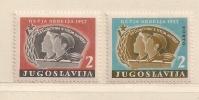 YOUGOSLAVIE  ( EU- 147 )  1957  N° YVERT ET TELLIER  N° 31/32    N* - Beneficiencia (Sellos De)
