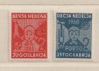 YOUGOSLAVIE  ( EU - 149 )  1960  N° YVERT ET TELLIER  N° 43/44  N* - Wohlfahrtsmarken