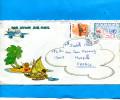 MARCOPHILIE-lettre-wallis Et Futuna- Cad Mata Utu-1988-2stamps  N°373-oiseau+332 ONU - Covers & Documents