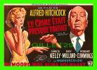 """AFFICHES DE FILM """"LE CRIME ÉTAIT PRESQUE PARFAIT"""" ALFRED HITCHCOCK, GRACE KELLY  - No E 66, ÉDITIONS F. NUGERON - - Affiches Sur Carte"""