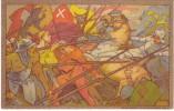 Dunki Artist Signed Image, 1911 National Festival Switzerland, Medieval Battle Scene, C1910s Vintage Postcard - Other