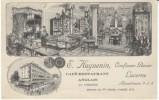 Lucerne Switzerland, Confiseur-Glacier Restaurant Cafe Advertisement, C1900s Vintage Postcard - LU Lucerne