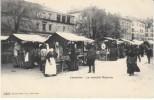 Lausanne Switzerland, Marche Riponne Market Scene, C1900s Vintage Postcard - VD Vaud