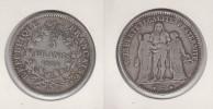 France  5 Francs 1874 K Hercule - France