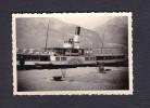 Photo Originale Suisse UR Bateau Le Wilhelm Tell Dans Le Port De Flüelen ( Lac Des Quatre Cantons 1957) - Places