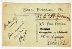 AUTUN POUR PARIS - MARQUE DE FACTEUR 5/4 - SUR CPA - Marcophilie (Lettres)