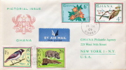 Postal History Cover: Ghana Animals, Flowers Set On 2 Covers - Sin Clasificación