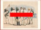 Cartoncino  Con Divise  Corpi Speciali Italiani In Africa A Fine 800' - Storia
