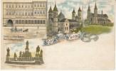 Gruss Aus Worms Germany, Gasthof Zum Alten Kaiser, Castle, C1900s Vintage Postcard - Worms