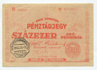 "Hongrie Hungary Ungarn 100.000 AdoPengorol 1946 """" MASRA  AT  NEM  RUHAZHATO """" STAMP - Hungary"