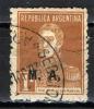 ARGENTINA -1920 - JOSE DE SAN MARTIN CON SOVRASTAMPA M.A. - USATO - Servizio