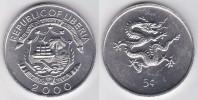 """Liberia 5 Céntimos 2.000 Aluminio KM#474 """"Year Of The Dragon"""" SC/UNC       T-DL-10.289 - Liberia"""