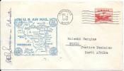 LE38 1ère Liaison Américaine D'Ironwood De 1949 - Poste Aérienne