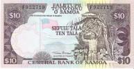 Samoa - Pick 27 - 10 Tala 1985 - Unc - Samoa
