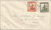 Lettre (mention Manuscrite AVION)  D´USUMBURA Vers HERSTAL - ??/11/1946 - Ruanda-Urundi
