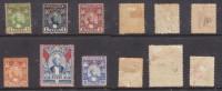 Zanzibar, 1896 - 1901, 6 Vals To 1 Rupee , 2 Anna Used, Others MH * - Zanzibar (...-1963)