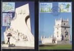 """2 Cartes Maximum De 2009 """" CAPITALE DU PORTUGAL : LISBONNE """". N° YT 4402 à 4405. Parfait état ! CM - Cartes-Maximum"""