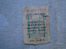 Hungary  Railway Ticket  Ca 1950's  Bélmegyer  Fapados Menettérti   -train  -  27 Km  BA106.10 - Chemins De Fer