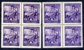 BOHEMIA & MORAVIA 1943 Wagner Anniversary 60 H. In Two Shades In Blocks Of 4 MNH / **. Michel 128 - Bohemia & Moravia