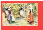 Bretagne Cpa Animée Vie Bretonne Fontaine Miraculeuse    12 - Bretagne
