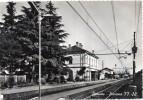 Lombardia Varese Besnate Stazione Ferroviaria Veduta Interna Anni 50 - Stazioni Senza Treni