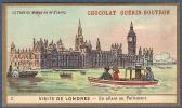 Chromo Chocolat Guerin-Boutron Le Tour Du Monde En 84 étapes 3 Visite De Londres Angleterre En Allant Au Parlement - Guerin Boutron