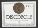 Etiquette De Vin De Table Rouge -  Discobole - Thème Numismatique -  Ets Bach Disco à Saint Remy (12) - Monete