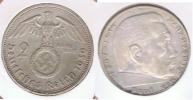 ALEMANIA  DEUTSCHES REICH 2 MARK A 1939 PLATA SILVER S - 2 Reichsmark