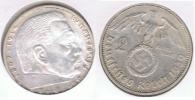 ALEMANIA  DEUTSCHES REICH 2 MARK A 1939 PLATA SILVER S2 - 2 Reichsmark