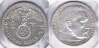 ALEMANIA  DEUTSCHES REICH 2 MARK A 1939 PLATA SILVER S4 - 2 Reichsmark